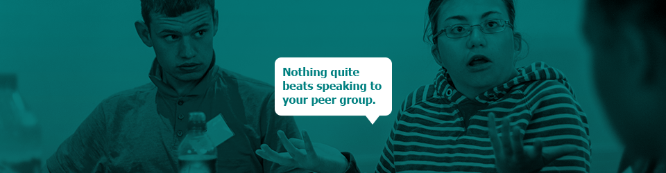Nothing quite beats speaking to your peer group.